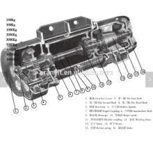 Grue électrique de haute qualité de câble métallique 1-25T