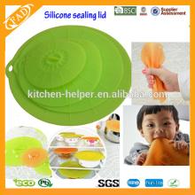 Ein Set von 4 Deckel Silikondeckel / Stehlen Hohlware Abdeckung Für Küchengeräte