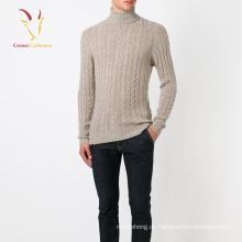 Herren Cable Knit Turtle Neck Pullover Pullover Großhandel