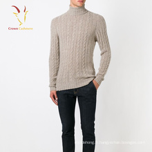 Mens Cable Knit Tortue Pull Pull Pull en gros