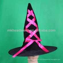 Diseño barato barato adornado de los sombreros de la bruja de Halloween para la venta