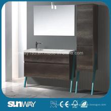 2016 El armario europeo más nuevo del cuarto de baño de la melamina con el espejo