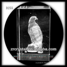 K9 3D Laser Etched Parrot Inside Crystal Block
