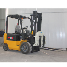 2 ton electric forklifts with forklift rotator