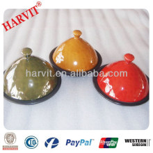 2014 New Products On Turkish market Ceramic Frying Pan / Moroccan Marble Ceramic Colored Tajine Pot
