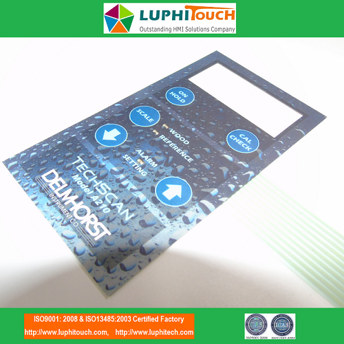 TechScan Moisture Meter Digital Printing Membrane Switch