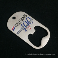 Custom Dog Tag Shape Bottle Opener with Customized Logo for Souvenir/Promotion