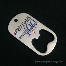Abridor de garrafa feito sob encomenda da forma da etiqueta de cão com logotipo personalizado para a lembrança / promoção