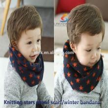 Fashion scarves Cashmere star knitting neck warmer bandana magic knitted scarf