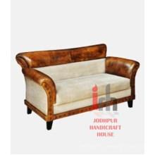 Canapé en toile en cuir