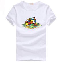 Китай сделал белый хлопок печатных пользовательских футболки для мужчин