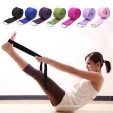 180cm Multicolors Yoga Stretch Strap D-Ring Belt Fitness Exercise Gym Rope Figure Waist Leg Resistance Fitness Bands Yoga Belt3 Orders