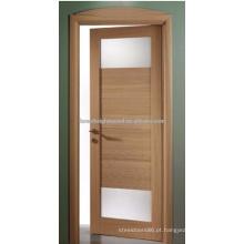 Projeto moderno moderno das portas interiores do folheado do carvalho
