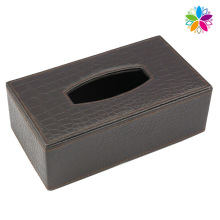 High-End Rechteck Leder Tissue Box (ZJH072)