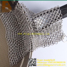 Stainless Steel Chainmail Scrubber Cookware Cleaner