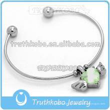 bracelete de charme de aço inoxidável atacado pulseiras memorial braceletes pulseira magnética