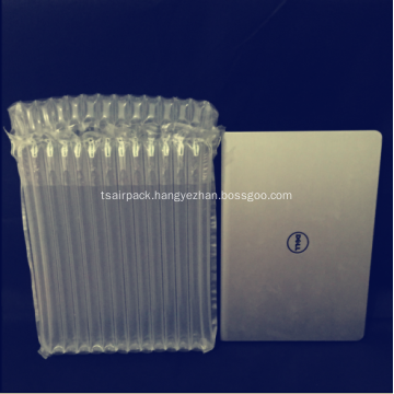 Air dunnage column packaging for laptop