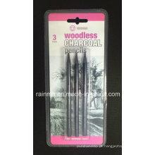 Lápis de grafite sem madeira 3 PCS Blister Embalagem