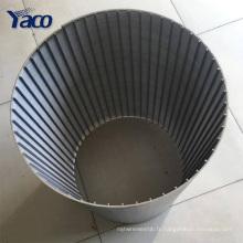 Usine vente chaude V forme fil enroulé en acier inoxydable micro écran filtre maille