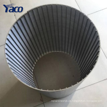 O fio quente da forma da venda V da fábrica envolveu a micro tela de aço inoxidável do filtro da tela