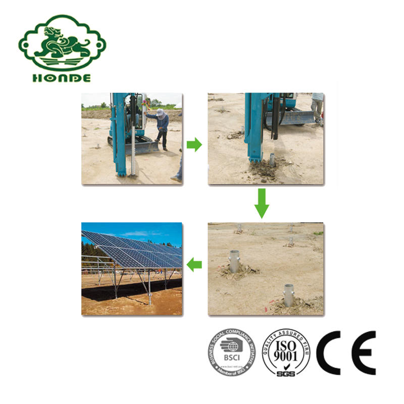 Galvanized Solar Screw Pile