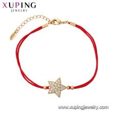 75561 Xuping ювелирные изделия 18k золото цвет элегантный браслет с звезда форма