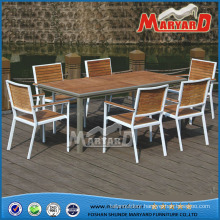 Teak Wood Garden Dining Set, Restaurant Dining Table and Chair Teak Furniture
