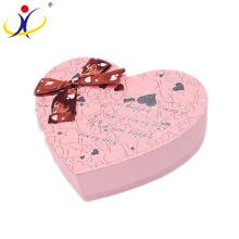 Boîtes d'emballage personnalisées de chocolat de cadeaux de cadeau de forme de coeur de luxe de couleur