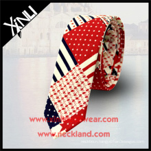 100% Cotton Printed Private Label Maryland Flag Custom Ties with Logo