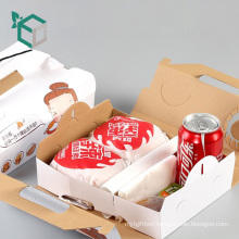 Wholesale Low Price Practical Corrugated Board Custom Design Disposable Food Take Away Packaging Box