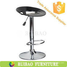 2016 Adjustable Chrome ABS Bar Stool with Footrest