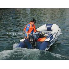 barco de Marina bote inflable de color de 6 pasajeros 0.9 pvc 3 capa opcional