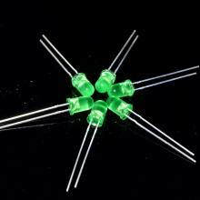 Ultra Brightness Green 5mm LED diffus lins