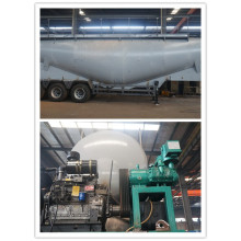3 Axles Bulk Cement Semi Trailer with Air Compressor