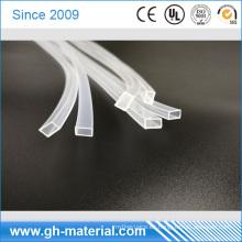 Tira de goma de silicio transparente rectangular de alto voltaje