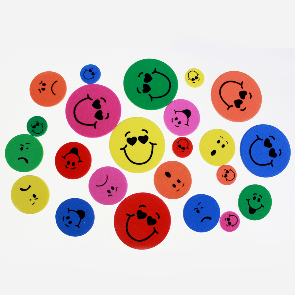 Emoji printed foam assorted embellishment