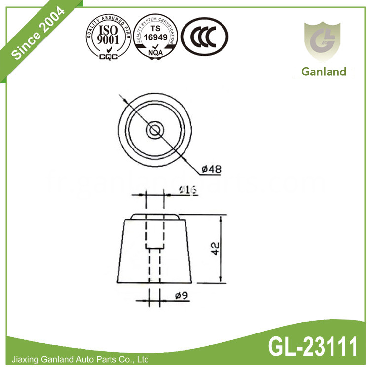 Rubber Door Buffer GL-23111