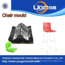 Fábrica plástica del molde del hogar para el nuevo molde de la silla del plástico de la barra del diseño en taizhou China