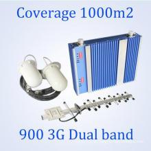 2g y 3G de doble banda 65dB Gain Cell Phones Booster de señal con 5dB Omni-Directional Dome techo Antena Proveedores