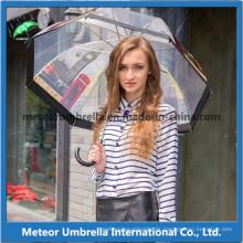 Im Freien transparenter Plastik PVC Poe löschen Förderung-Luftblasen-Regenschirm