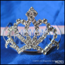 Tiara de la reina completa para la corona de oro corona de la corona de oro del juguete de la boda