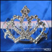Queen full tiara for wedding toy golden crown crown ventilator glass crown