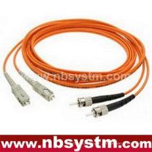 Câble fibre optique, LC-ST, multi mode, duplex (type 50/125)