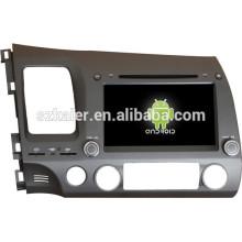 Android 4.4 Miroir-lien Glonass / GPS 1080P dual core voiture multimédia central pour Honda vieille Civic avec GPS / Bluetooth / TV / 3G