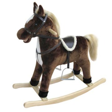 Factory Promotional for Best Plush Rocking Horses, Animal Rocking Horses, Baby Plush Rocking Horse, Plush Motorized Animal Manufacturer in China Baby rocking horse LXRH-010 export to France Metropolitan Suppliers