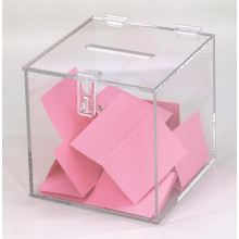 Clear Vote Box Acryl Charity Collection Dosen