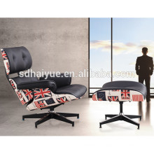 European Style Popular Leather Cover Lounge Chair and ottoman with Large Comfortable Seat Space