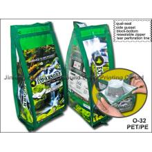 Sac d'emballage Quad-Seal avec fermeture à glissière