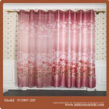 Cortinas de estilo chinês cor de chocolate turco impresso para cortinas de igreja para sala de estar