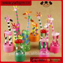 Pequeño animal de juguete de madera para niños, jirafa de madera de nuevo diseño, juguete de madera para niños